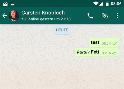 La negrita y la cursiva en WhatsApp