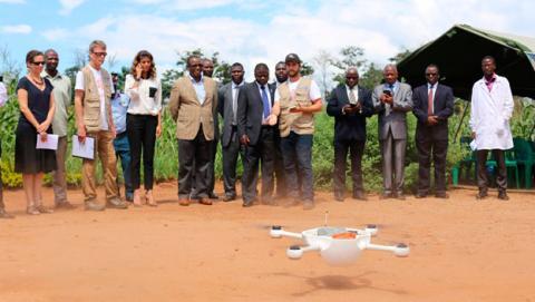 drone pruebas del sida