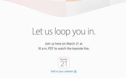 ver online streaming keynote apple marzo 2016 nuevo iPhone SE y iPad Air 3