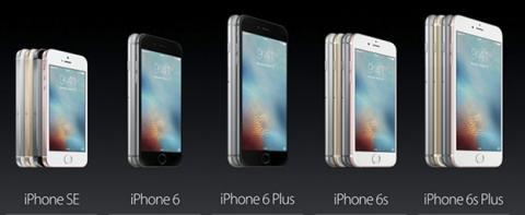 Comparativas entre iPhone SE, iPhone 6S y iPhone 5S