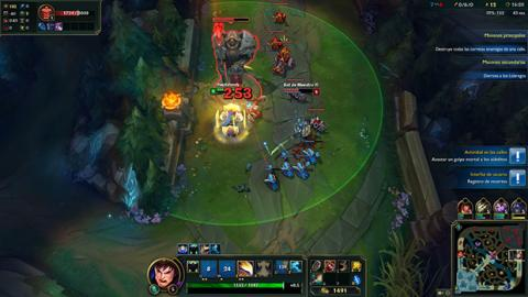 League of Legends, gameplay con Gamine Evolved de AMD