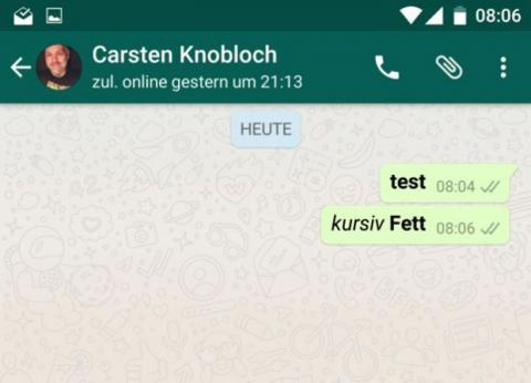 negritas cursivas whatsapp