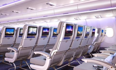 Imagen de los asientos de la cabina Airspace