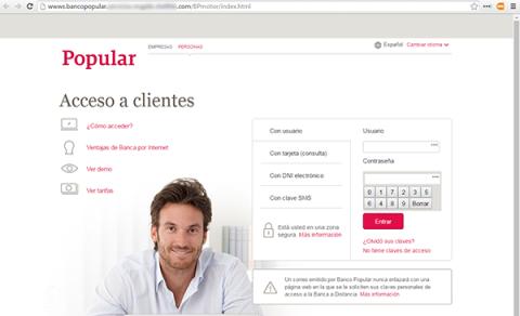 Phishing Banco Popular
