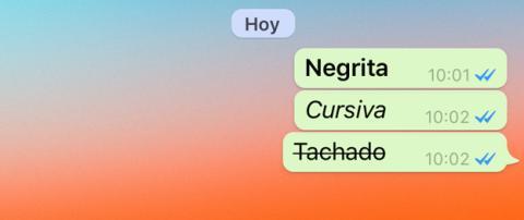 Insertar negritas en WhatsApp