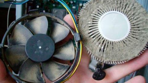 El disipador del procesador está muy sucio y el ventilador no consigue refrigerarlo adecuadamente.