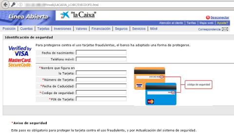Phishing a La Caixa