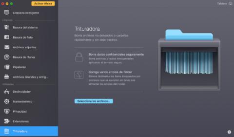 Trituradora de archivos para tu Mac