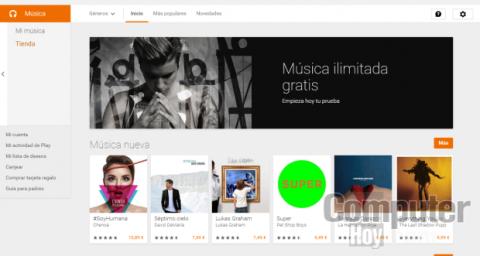 El servicio de música en streaming, en el que puedes escuchar y gestionar millones de canciones