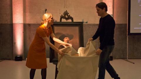 Copia impresa en 3D de cuadro de Rembrandt