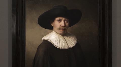 Pintura imitando un Rembrandt