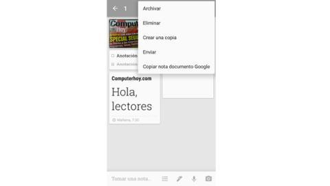 Archivar nota Google Keep