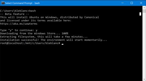 Bash en Ubuntu en Windows 10 de forma nativa