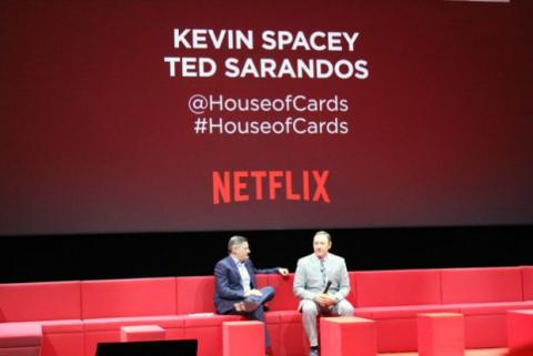Kevin Spacey en el evento de Netflix