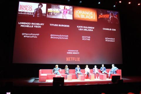 Presentación de nuevas series en Netflix