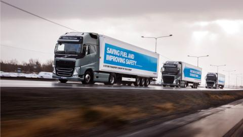 Cruza Europa el primer convoy de camiones autónomos