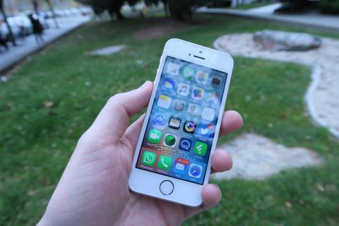 iPhone SE: Pantalla en exteriores