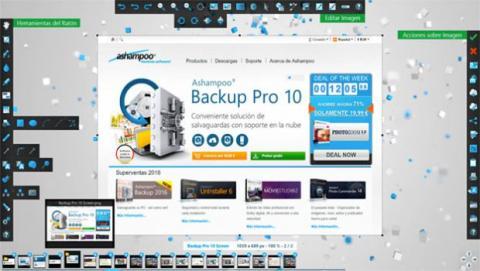 Ashampoo Snap 9 permite a los usuarios integrar aplicaciones externas para editar y guardar los archivos capturados.