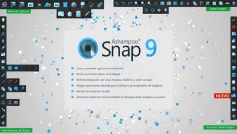 La nueva versión de Ashampoo Snap 9 incluye numerosas funciones y formas de capturar tu pantalla.