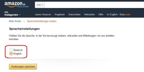 Cómo navegar por Amazon Alemania en inglés