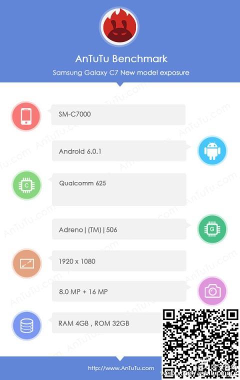 AnTuTu Samsung Galaxy C7