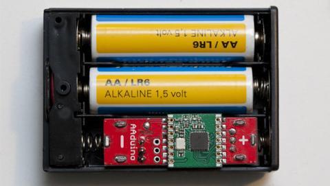 AAduino, la placa Arduino del tamaño de una pila AA