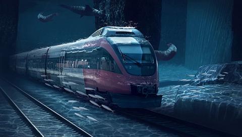 Tren acuático en La India