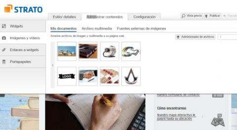 El editor de Strato Mi Web Pro es de tipo WYSIWYG.