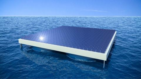 granja solar en el mar