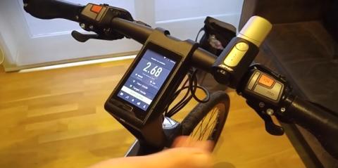 Bicicleta inteligente de Leeco
