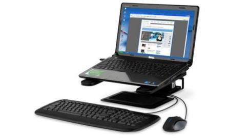 Los soportes adaptables para portátiles mejoran la ergonomía y su conectividad y refrigeración.