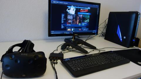 Imagen de las HTC vive con un Alienware X51