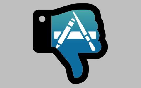 Apple App Store caida