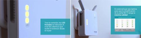 LED frontales para indicar señal