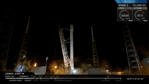 Lanzamiento de SpaceX de Elon Musk