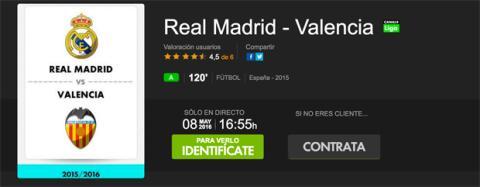ver online Real Madrid Valencia