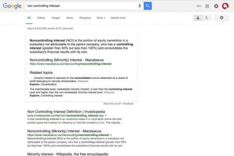 enlaces color negro google