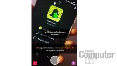 El Snapcode no es más que un código QR que se utiliza como marco amarillo alrededor de la imagen de perfil de Snapchat.