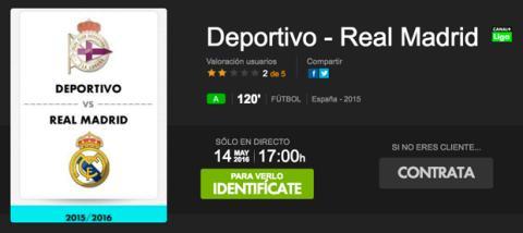 ver online Deportivo Real Madrid