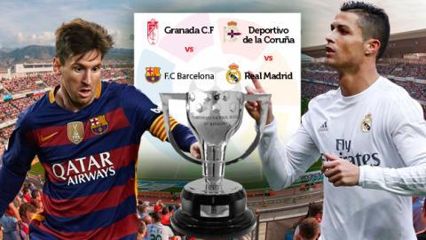 ver online ultima jornada, ver online liga, ver online deportivo real madrid, granada barcelona