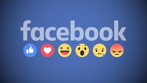 Botones de reacciones en Facebook