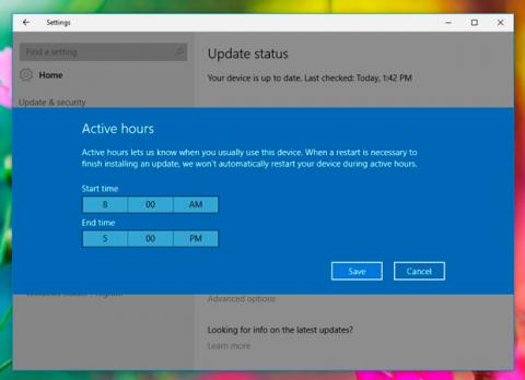 windows 10 actualizaciones horas activas