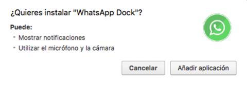 Instalar Whatsapp Dock
