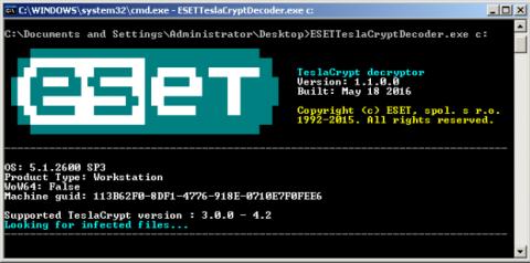 Herramienta para descifrar archivos encriptados por TeslaCrypt