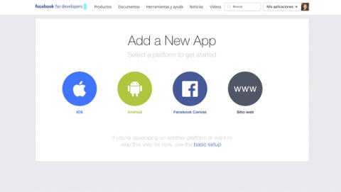 Crea tu página y app de Facebook