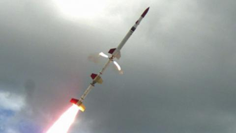Imagen del cohete supersónico lanzado en Australia