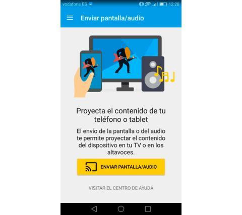 Enviar pantalla Chromecast