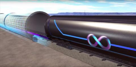 Prototipo de Hyperloop, el transporte de alta velocidad del futuro