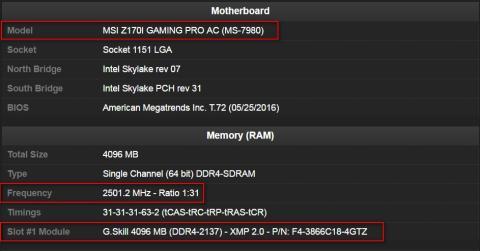 record velocidad Gskill trident Z, hay que tener en cuenta el multiplicador x2 de las memorias