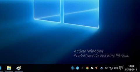 Marca de agua en Windows 10 sin licencia